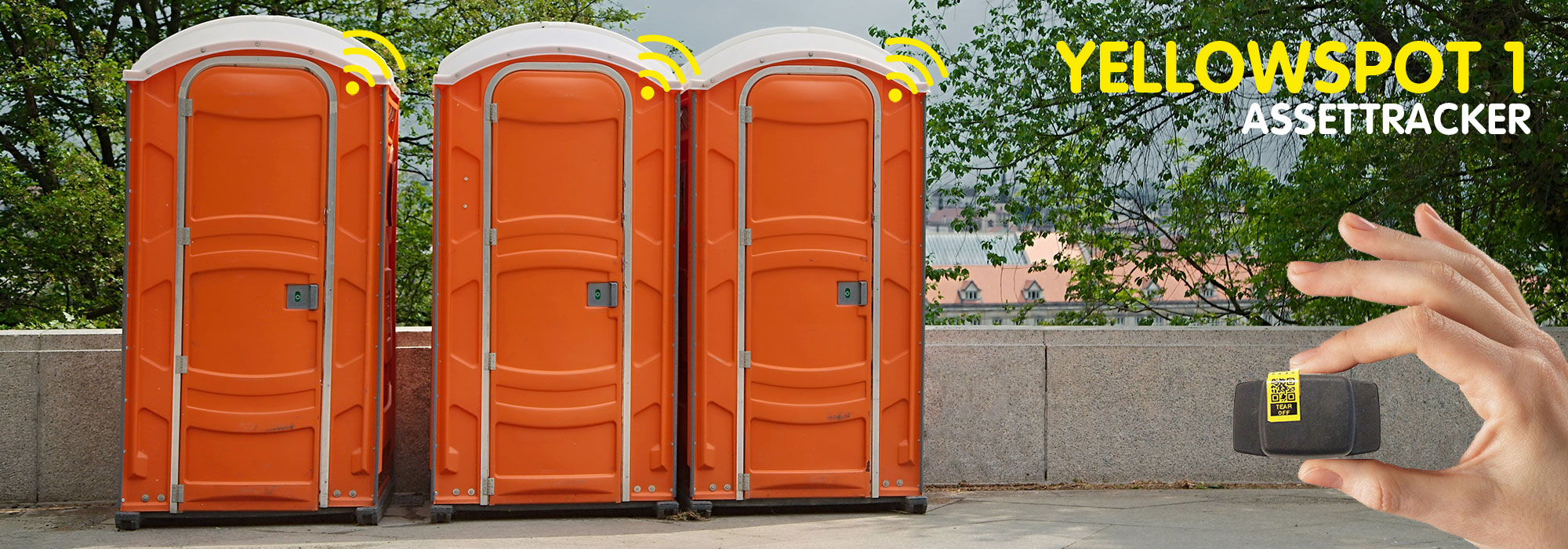 Spotmaster Assettracker Yellowspot 1 gebruik voor mobiele toiletten