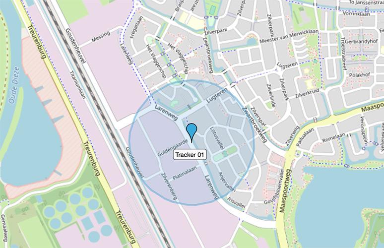 Locatiebepaling Spotmaster Yellowspot 1 Assettracker in webapplicatie